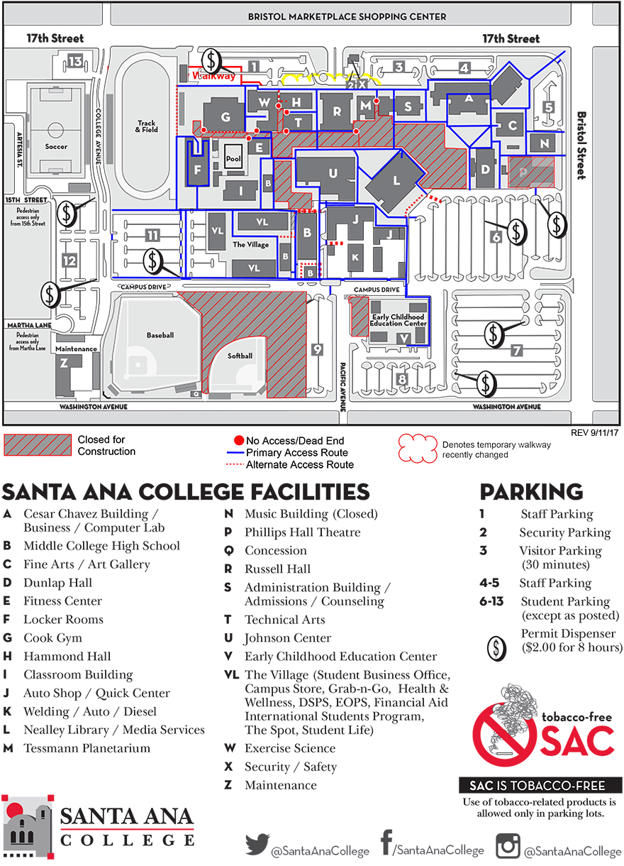 Download Santa ana College Map
