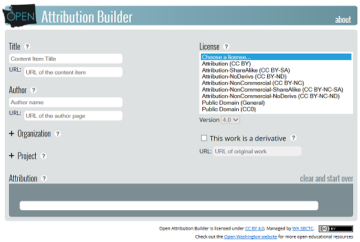 Attribution Builder