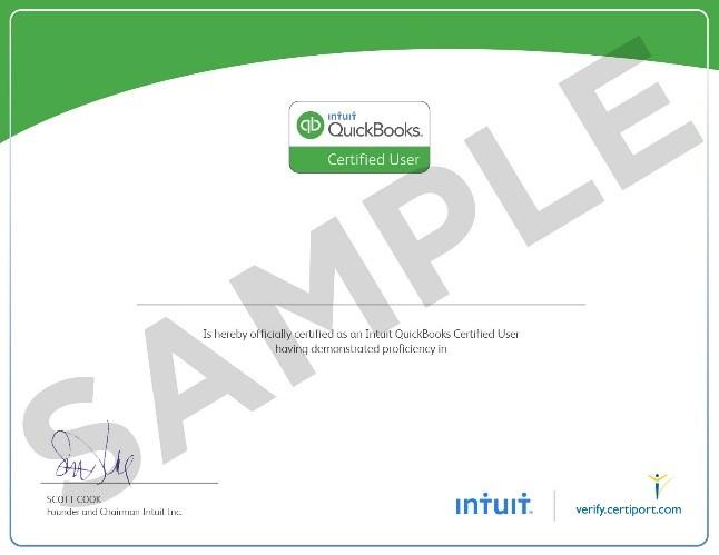 Quickbooks Certified Users Exam