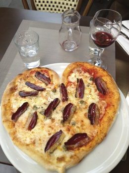 Duck Pizza (made with Duck Bacon), Paris