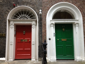Georgian Houses in Dublin, Ireland
