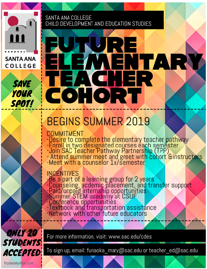 Future Teacher Cohort Flyer
