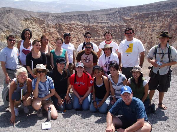 Group photo at Death Valley