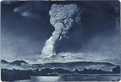 Photograph taken of 1915 Lassen Peak eruption