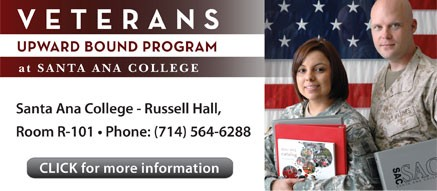 Learn more about the SAC Veterans Upward Bound Program located in R-101