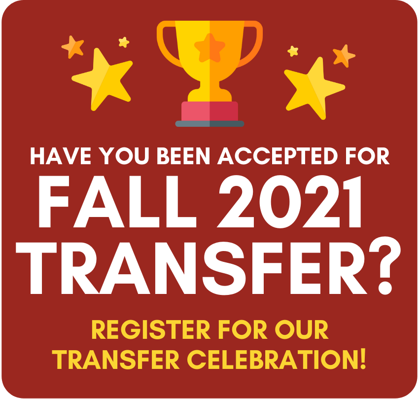 Icon for Fall 2020 Transfer accepted students.
