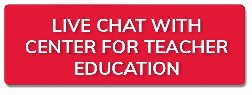 Live chat with Center for Teacher Education