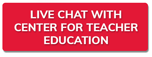 New tab to live chat with Center for teacher Education