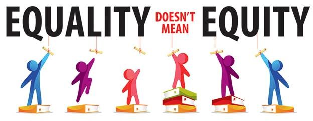 Equity doesn't mean equality logo