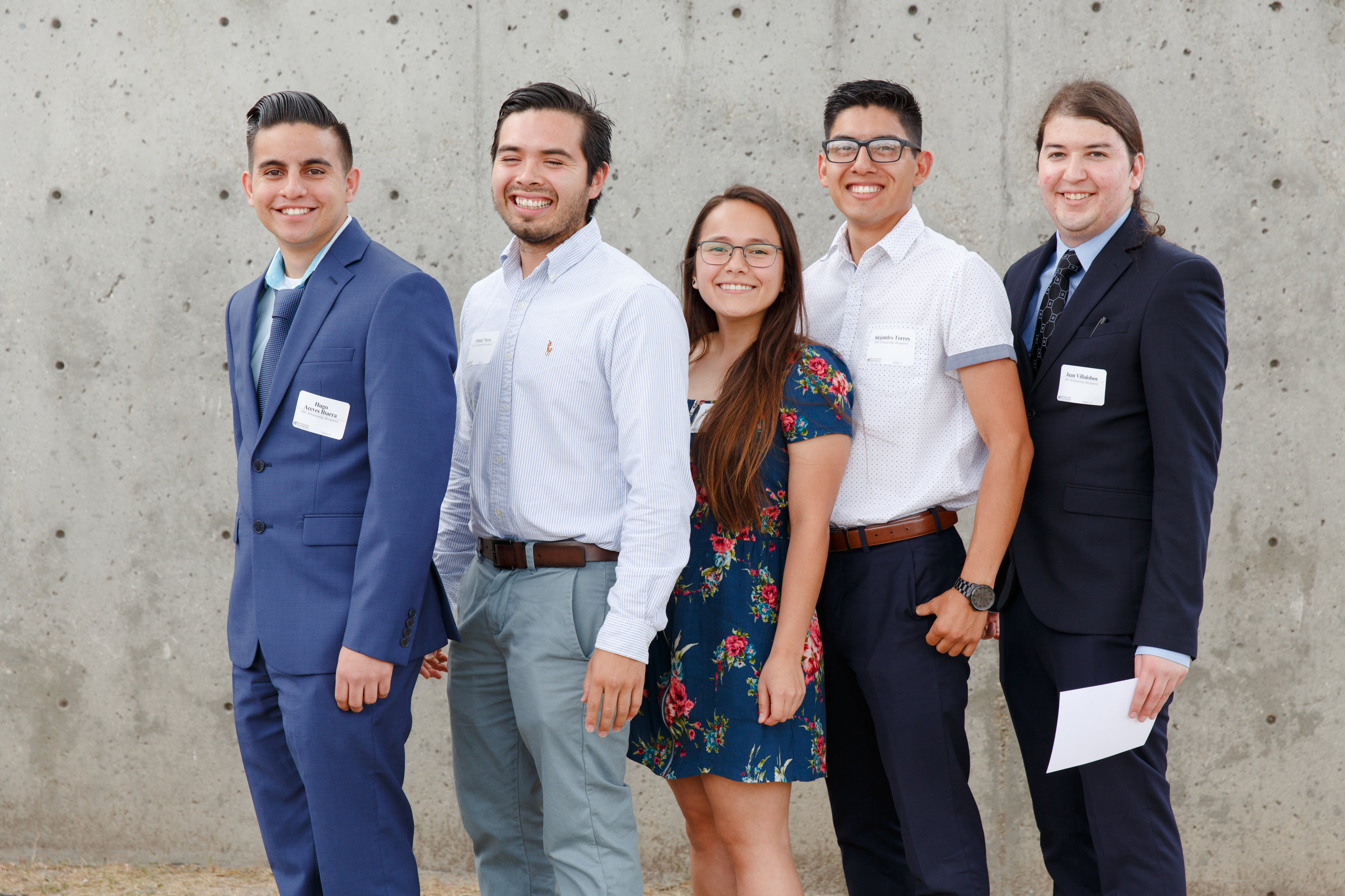 SAC Foundation Scholarship students