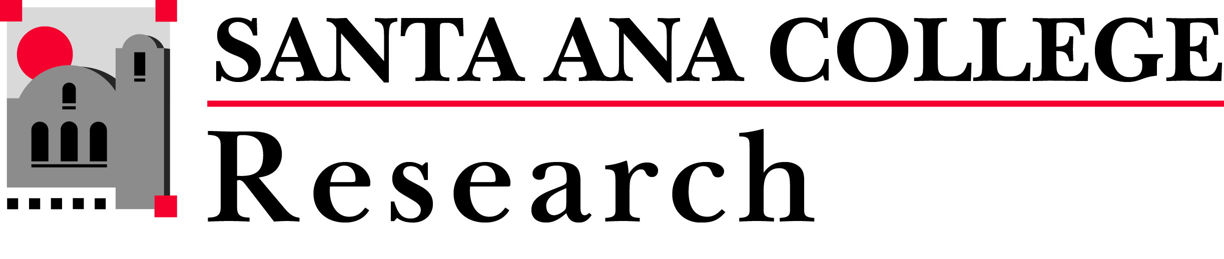 Santa Ana College Research logo
